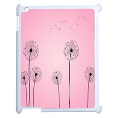 Flower Back Pink Sun Fly Apple Ipad 2 Case (white) by Mariart