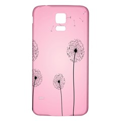 Flower Back Pink Sun Fly Samsung Galaxy S5 Back Case (white) by Mariart