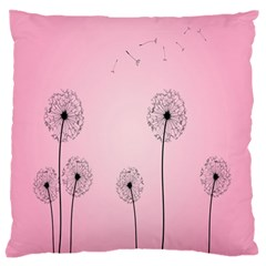 Flower Back Pink Sun Fly Standard Flano Cushion Case (two Sides) by Mariart