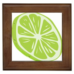 Gerald Lime Green Framed Tiles by Mariart