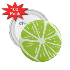 Gerald Lime Green 2 25  Buttons (100 Pack)