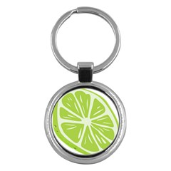 Gerald Lime Green Key Chains (round)  by Mariart