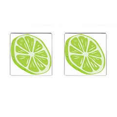 Gerald Lime Green Cufflinks (square) by Mariart