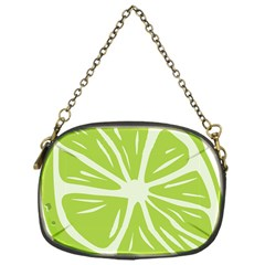 Gerald Lime Green Chain Purses (one Side)  by Mariart
