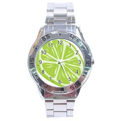 Gerald Lime Green Stainless Steel Analogue Watch