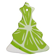 Gerald Lime Green Christmas Tree Ornament (two Sides) by Mariart