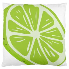 Gerald Lime Green Large Cushion Case (two Sides) by Mariart