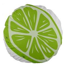 Gerald Lime Green Large 18  Premium Flano Round Cushions by Mariart