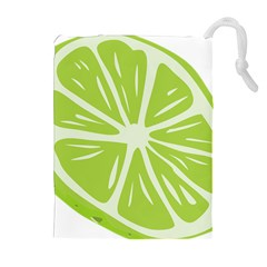 Gerald Lime Green Drawstring Pouches (extra Large) by Mariart