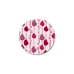 Flower Floral Mpink Frame Golf Ball Marker (10 Pack) by Mariart