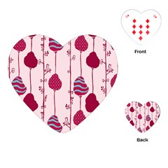 Flower Floral Mpink Frame Playing Cards (heart)  by Mariart