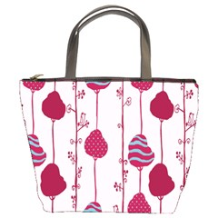 Flower Floral Mpink Frame Bucket Bags by Mariart