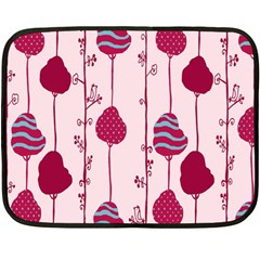 Flower Floral Mpink Frame Double Sided Fleece Blanket (mini)  by Mariart