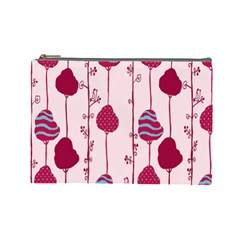 Flower Floral Mpink Frame Cosmetic Bag (large)  by Mariart