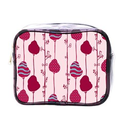 Flower Floral Mpink Frame Mini Toiletries Bags by Mariart