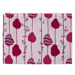 Flower Floral Mpink Frame Cosmetic Bag (xxl)  by Mariart