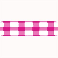 Hot Pink Brush Stroke Plaid Tech White Large Bar Mats by Mariart