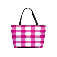 Hot Pink Brush Stroke Plaid Tech White Shoulder Handbags by Mariart