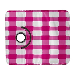 Hot Pink Brush Stroke Plaid Tech White Galaxy S3 (flip/folio) by Mariart
