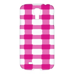 Hot Pink Brush Stroke Plaid Tech White Samsung Galaxy S4 I9500/i9505 Hardshell Case by Mariart