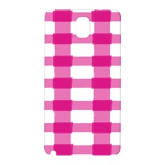 Hot Pink Brush Stroke Plaid Tech White Samsung Galaxy Note 3 N9005 Hardshell Back Case by Mariart