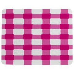 Hot Pink Brush Stroke Plaid Tech White Jigsaw Puzzle Photo Stand (rectangular) by Mariart