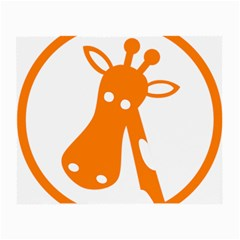 Giraffe Animals Face Orange Small Glasses Cloth (2-side) by Mariart