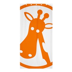 Giraffe Animals Face Orange Shower Curtain 36  X 72  (stall)  by Mariart