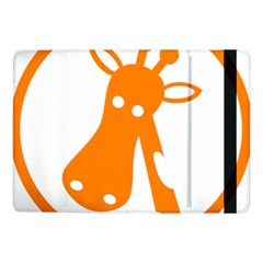 Giraffe Animals Face Orange Samsung Galaxy Tab Pro 10 1  Flip Case by Mariart
