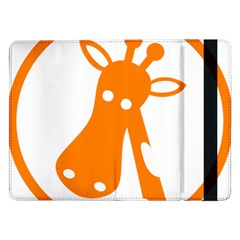 Giraffe Animals Face Orange Samsung Galaxy Tab Pro 12 2  Flip Case by Mariart