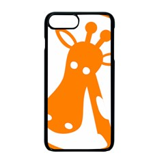 Giraffe Animals Face Orange Apple Iphone 7 Plus Seamless Case (black)