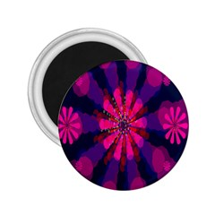 Flower Red Pink Purple Star Sunflower 2 25  Magnets by Mariart