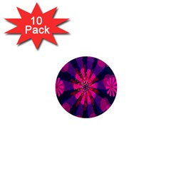 Flower Red Pink Purple Star Sunflower 1  Mini Magnet (10 Pack)  by Mariart