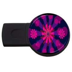 Flower Red Pink Purple Star Sunflower Usb Flash Drive Round (2 Gb) by Mariart