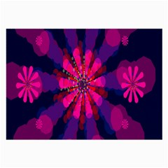 Flower Red Pink Purple Star Sunflower Large Glasses Cloth by Mariart