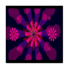 Flower Red Pink Purple Star Sunflower Face Towel by Mariart