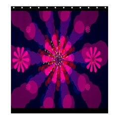 Flower Red Pink Purple Star Sunflower Shower Curtain 66  X 72  (large)  by Mariart