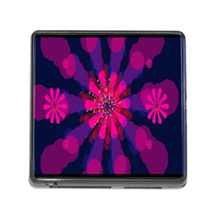 Flower Red Pink Purple Star Sunflower Memory Card Reader (square) by Mariart