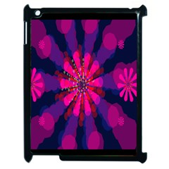 Flower Red Pink Purple Star Sunflower Apple Ipad 2 Case (black) by Mariart