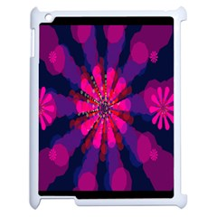 Flower Red Pink Purple Star Sunflower Apple Ipad 2 Case (white) by Mariart