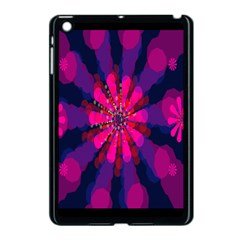 Flower Red Pink Purple Star Sunflower Apple Ipad Mini Case (black) by Mariart