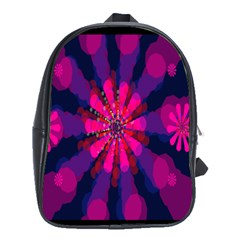 Flower Red Pink Purple Star Sunflower School Bags (xl)  by Mariart