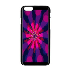 Flower Red Pink Purple Star Sunflower Apple Iphone 6/6s Black Enamel Case by Mariart
