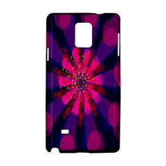 Flower Red Pink Purple Star Sunflower Samsung Galaxy Note 4 Hardshell Case by Mariart