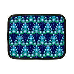 Christmas Tree Snow Green Blue Netbook Case (small)  by Mariart