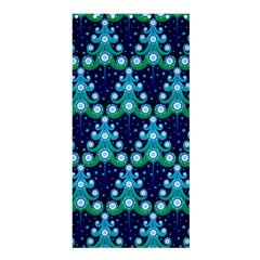 Christmas Tree Snow Green Blue Shower Curtain 36  X 72  (stall)  by Mariart