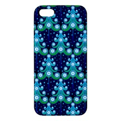 Christmas Tree Snow Green Blue Iphone 5s/ Se Premium Hardshell Case by Mariart