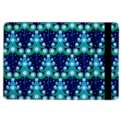 Christmas Tree Snow Green Blue Ipad Air Flip by Mariart
