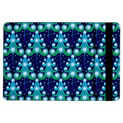 Christmas Tree Snow Green Blue Ipad Air 2 Flip by Mariart