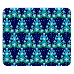 Christmas Tree Snow Green Blue Double Sided Flano Blanket (small)  by Mariart